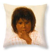 Shy One Throw Pillow