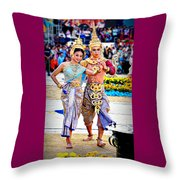 Siam Culture Dance Throw Pillow