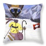 Siamese Queen Of Switzerland Throw Pillow