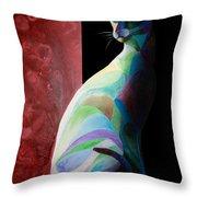 Siamese Shadow 2 Throw Pillow