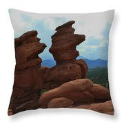 Siamese Twins Garden Of The Gods Colorado Throw Pillow