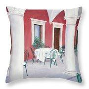 Sibenik Cafe Croatia Throw Pillow