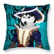 Siberian Husky Art Canvas Print - Baroness Throw Pillow