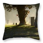 Sibley Cemetery Throw Pillow