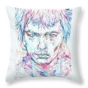 Sid Vicious - Colored Pens Portrait Throw Pillow