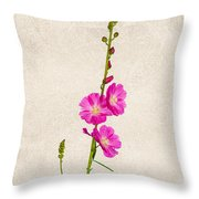 Sidalcea 3 Throw Pillow