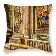 Side Altar In St Peters Basicilca Throw Pillow