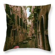 Side Canal Throw Pillow