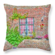 Side Garden Throw Pillow