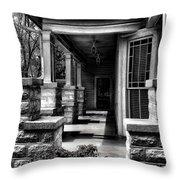 Side Porch Throw Pillow