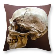 Side Profile View Of Human Skull   Throw Pillow
