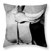 Side Saddle Throw Pillow