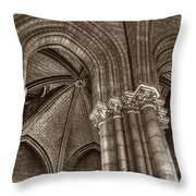 Side Vault In Notre Dame Throw Pillow