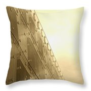 Side View Modern Glass Building In Baltimore Throw Pillow
