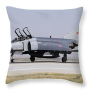 Side View Of A Turkish Air Force Throw Pillow