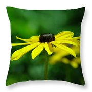 Side View Of A Yellow Flower Throw Pillow