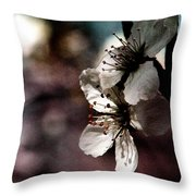 Side View Of White Flowers Throw Pillow