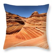 Side Wave Throw Pillow