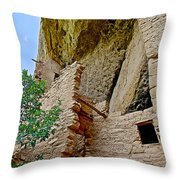 Side Window In Spruce Tree House On Chapin Mesa In Mesa Verde National Park-colorado  Throw Pillow