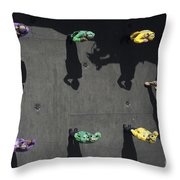 Sideboys Salute The Commander Of Naval Throw Pillow