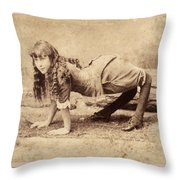 Sideshow Camel Girl, 1886 Throw Pillow