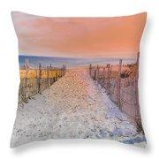 Sideside Heights Sunset Throw Pillow