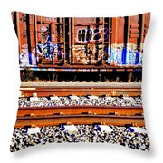Sidetracked Throw Pillow