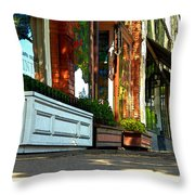 Sidewalk In Saint Helena Throw Pillow