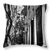 Sidewalk Scene-charleston Throw Pillow
