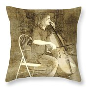 Sidewalk Virtuoso Throw Pillow