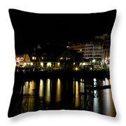 Sidney Bc At Night Throw Pillow