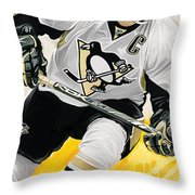 Sidney Crosby Artwork Throw Pillow