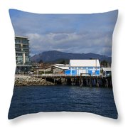 Sidney Harbour On Vancouver Island Throw Pillow