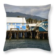 Sidney Harbour Wharf Throw Pillow