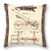 Siege Crossbow Throw Pillow by Garry Walton