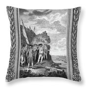 Siege Of Gibraltar, 1782 Throw Pillow
