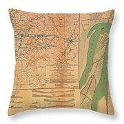Siege Of Vicksburg 1863 Throw Pillow