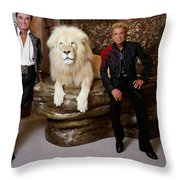 Siegfried And Roy Throw Pillow