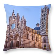 Siena Duomo At Sunset Throw Pillow by Liz Leyden