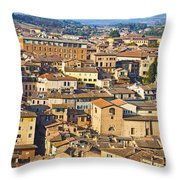 Siena Rooftops Throw Pillow