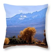 Sierra Autumn Gold Throw Pillow