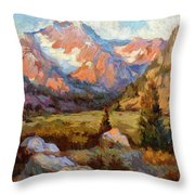 Sierra Nevada Mountains Throw Pillow