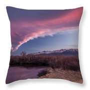 Sierra Wave And Lower Owens Throw Pillow
