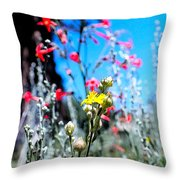 Sierra Wild Flowers II Throw Pillow