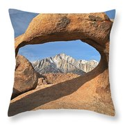 Sierras Under Mobius Throw Pillow