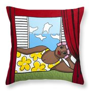 Siesta 2 Throw Pillow