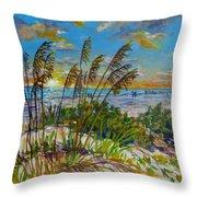 Siesta Beach Sunset Dunes Throw Pillow