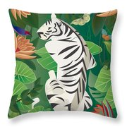 Siesta Del Tigre - Limited Edition 2 Of 15 Throw Pillow