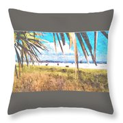 Siesta Key In Fall Throw Pillow
