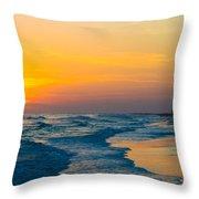Siesta Key Sunset Walk Throw Pillow